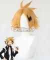 My Hero Academia Boku no Hero Akademia Denki Kaminari Golden Cosplay Wig - Wig + Head wear