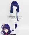 Genshin Impact Raiden Shogun Baal Blue Cosplay Wig