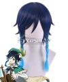 Genshin Impact Venti Blue Cosplay Wig