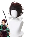 Demon Slayer: Kimetsu No Yaiba Kamado Tanjirou Red Brown Cosplay Wig - 487A