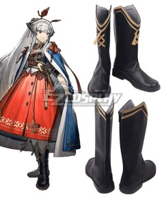 Arknights Weedy Icefield Messenger Black Shoes Cosplay Boots