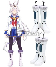 Uma Musume: Pretty Derby Oguri Cap White Shoes Cosplay Boots