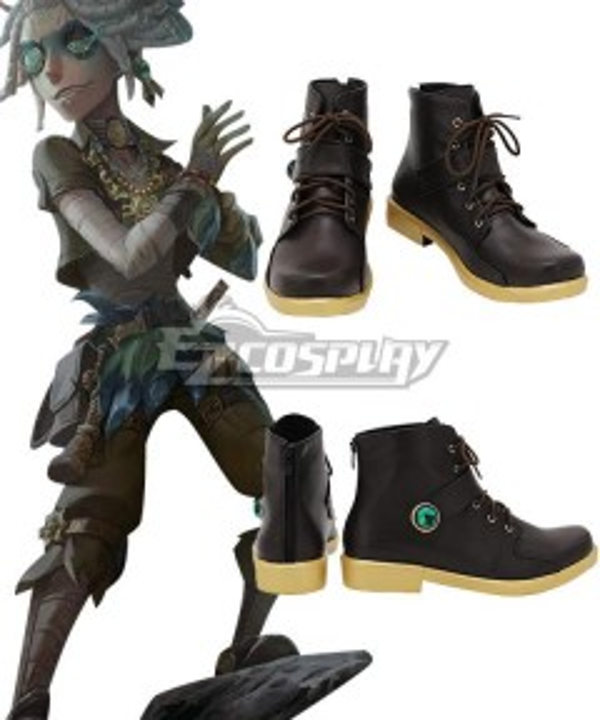 Identity V Prisoner Luca Balsa Electrolysis Black Cosplay Shoes