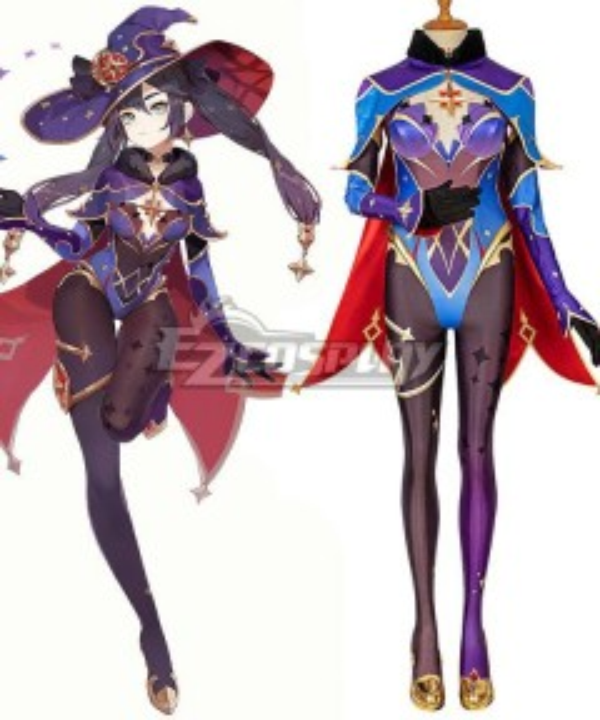 Genshin Impact Mona Halloween Party Game Cosplay Costume
