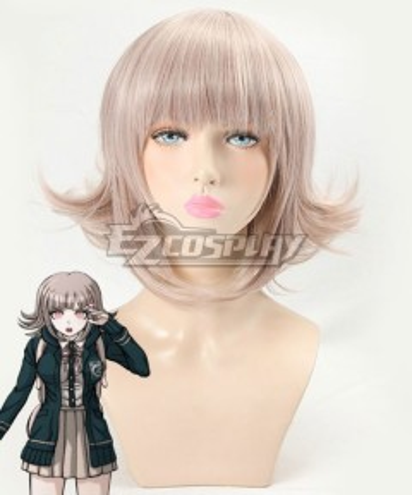 Danganronpa 2 Chiaki Nanami Light Pink Cosplay Wig