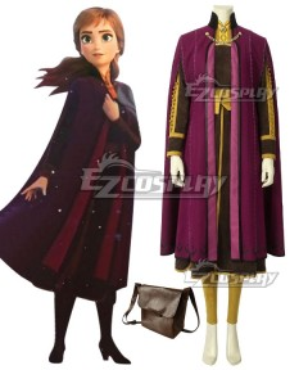 Disney Frozen 2 Anna Cosplay Costume