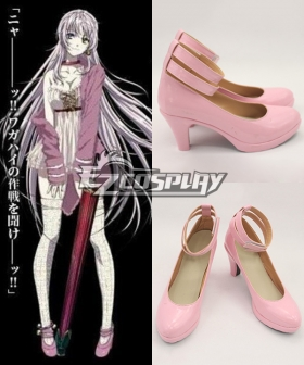 K Return Of Kings Neco Dress Pink Cosplay Shoes