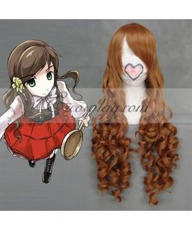 Hetalia Hungary Elizabeth Hedwig Brown Cosplay Wave Wig-037D
