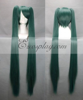 Vocaloid Thousand Cherry Tree Hatsune Miku Dark Green Cosplay Wig 042F