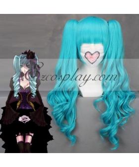 Vocaloid Hatsune Miku Full Bangs Blue Cosplay Wig 044B