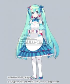 Vocaloid Hatsune Miku Maid Dress Cosplay Costume