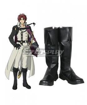 Seraph of the End Vampire Reign Owari no Serafu Crowley Eusford Black Shoes Cosplay Boots