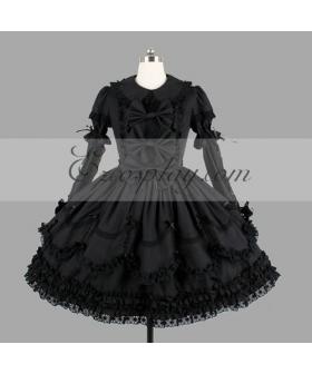 Black Gothic Lolita Dress -LTFS0112