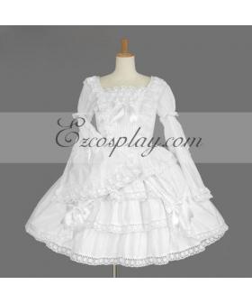 White Gothic Lolita Dress -LTFS0119