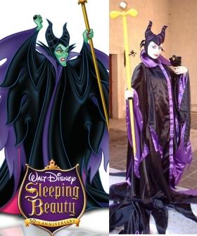 Disneys Evil Queen Maleficent Halloween Cosplay Costume New Ver