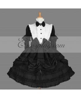 Black Gothic Lolita Dress -LTFS0136