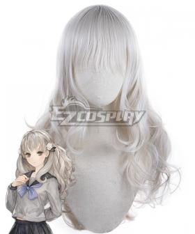 13 Sentinels Aegis Rim Iori Fuyusaka Silver Cosplay Wig