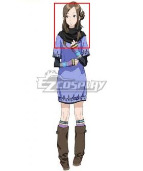 Zero Escape: The Nonary Games June Kanny Akane Kurashiki Brown Cosplay Wig