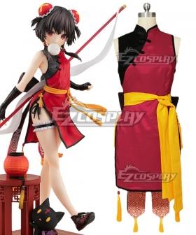 Kono Subarashii Sekai ni Shukufuku o Megumin Chinese Cheongsam Cosplay Costume