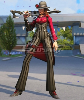 Overwatch OW Elizabeth Caledonia Calamity Ashe Gangster Skin Cosplay Costume