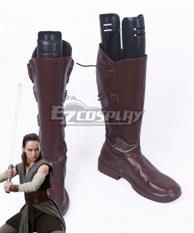 Star Wars The Last Jedi Rey New Brown Shoes Cosplay Boots