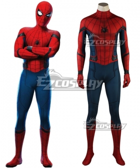 Marvel 2017 Spiderman Spider-Man:Homecoming Spider Man Peter Benjamin Parker Cosplay Costume - Free Hat