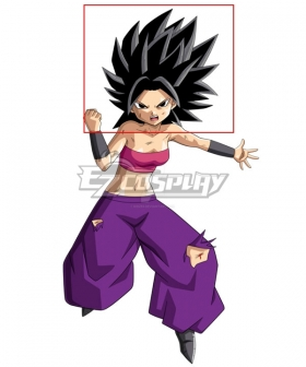 Dragon Ball Super Caulifla Black Cosplay Wig