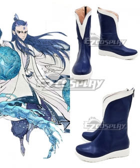 Nezha Ao Bing Blue White Cosplay Shoes