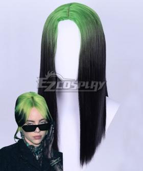 Billie Eilish Green Black Cosplay Wig