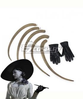 Resident Evil 8 Village Alcina Dimitrescu Vampire Lady Dimitrescu Claw Glove Cosplay Accessory Prop