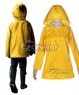2017 New Stephen King's It Georgie Denbrough Yellow Raincoat Cosplay Costume