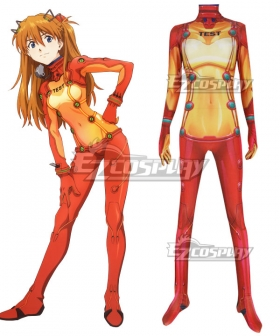 Neon Genesis Evangelion EVA Asuka Langley Sohryu Yamato Zentai Jumpsuit Cosplay Costume