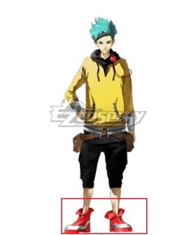 Anonymous;Code Pollon Takaoka Red Cosplay Shoes