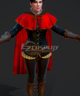 The Witcher 3 Wild Hunt Sylvia Anna Syanna Velvet Cosplay Costume