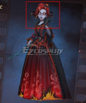 Identity V Bloody Queen Mary Fiery Diva Red Halloween Cosplay Wig