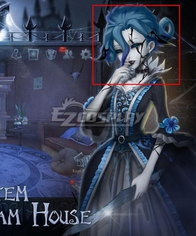 Identity V Bloody Queen Mary Lady in the Mirror Blue Halloween Cosplay Wig