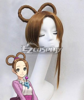 Ace Attorney Season 2 Pearl Fey Brown Cosplay Wig