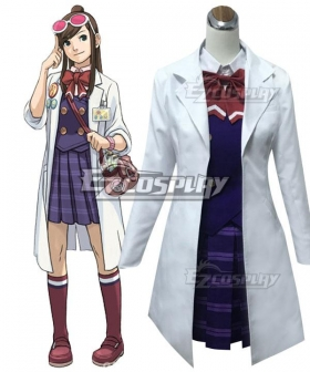 Ace Attorney Gyakuten Saiban Ema Skye Uniform Cosplay Costume