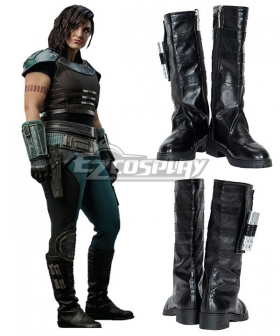 The Mandalorian 2 Cara Dune Black Shoes Cosplay Boots