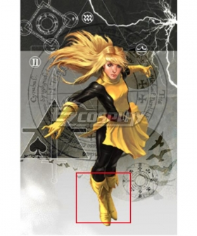 X-men Magik Golden Shoes Cosplay Boots