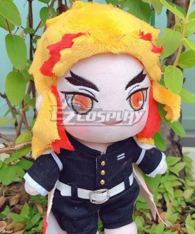 Kids Size Demon Slayer: Kimetsu No Yaiba Rengoku Kyoujurou Plush Doll Cosplay Accessory Prop