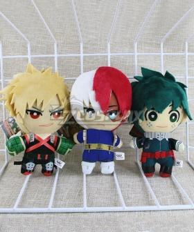 My Hero Academia Boku No Hero Akademia Shoto Todoroki Izuku Midoriya Deku Katsuki Bakugou Plush Doll Cosplay Accessory Prop