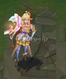 League of Legends LOL Star Guardian Prestige Soraka Golden Cosplay Wig