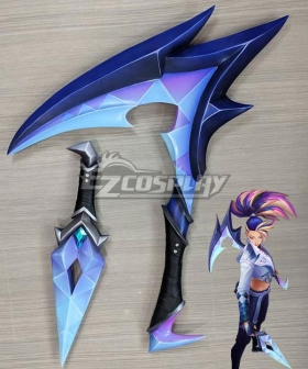 League Of Legends LOL 2020 K/DA KDA All Out Akali Scythe And Dagger Cosplay Weapon Prop