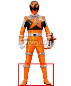Power Rangers Uchu Sentai Kyuranger Sasori Orange Shoes Cosplay Boots