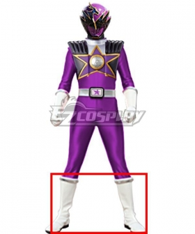 Power Rangers Uchu Sentai Kyuranger Ryu Violet Shoes Cosplay Boots