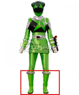 Power Rangers Uchu Sentai Kyuranger Chameleon Green Shoes Cosplay Boots