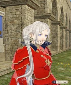 Fire Emblem: Three Houses Edelgard von Hresvelg Time Skip Silver Cosplay Wig