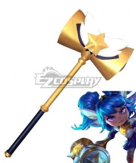 League of Legends LOL Star Guardian Poppy Hammer Cosplay Weapon Prop