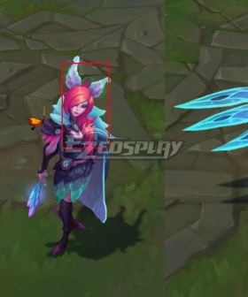 League Of Legends LOL Elderwood Xayah Pink Cosplay Wig
